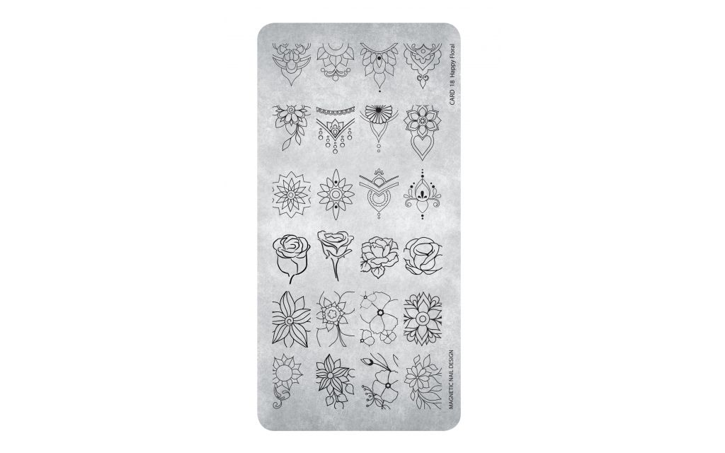 Magnetic Stamping Plate - Happy Floral