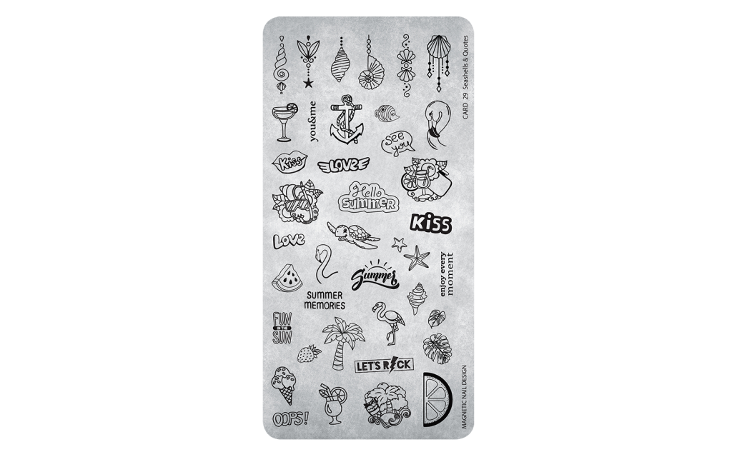 Magnetic Stamping Plate - Seashells&Quotes