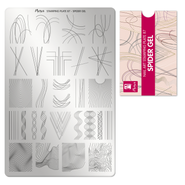 Moyra Stamping Plate 87 Spider Gel