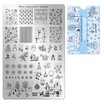 Moyra Stamping Plate 101 Winter Time
