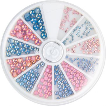 Strass Wheel Frosted Rhinestones Pink&Blue 270 pcs