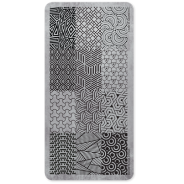 Magnetic Stamp plate Geometic 1 pcs.