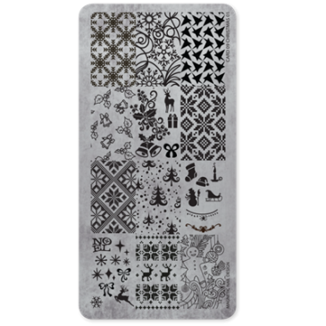 Magnetic Stamping Plate - Christmas 01