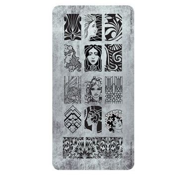 Magnetic Stamping Plate - Art Nouveau
