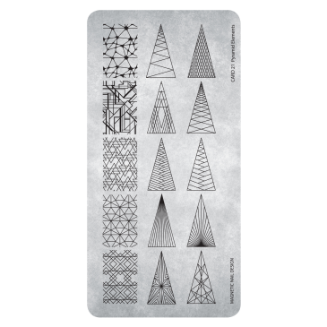 Magnetic Stamping Plate - Pyramid Elements