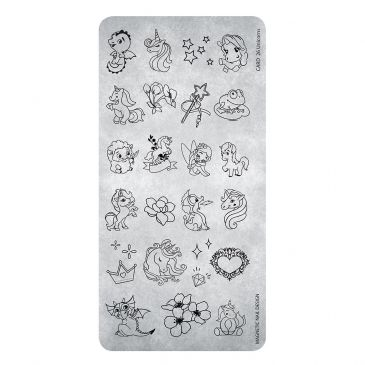 Magnetic Stamping Plate - Unicorn 25