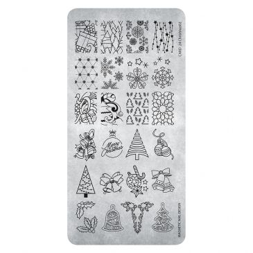 Magnetic Stamping Plate - Christmas 02