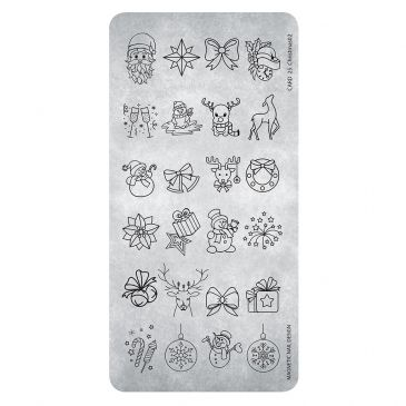 Magnetic Stamping Plate - Christmas 03