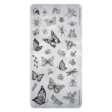 Magnetic Stamping Plate - Insects&Bugs