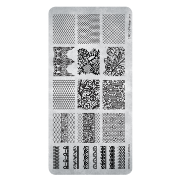 Magnetic Stamping Plate - 30 Vintage Lace