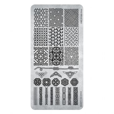 Magnetic Stamping Plate - Celtic Knots 39