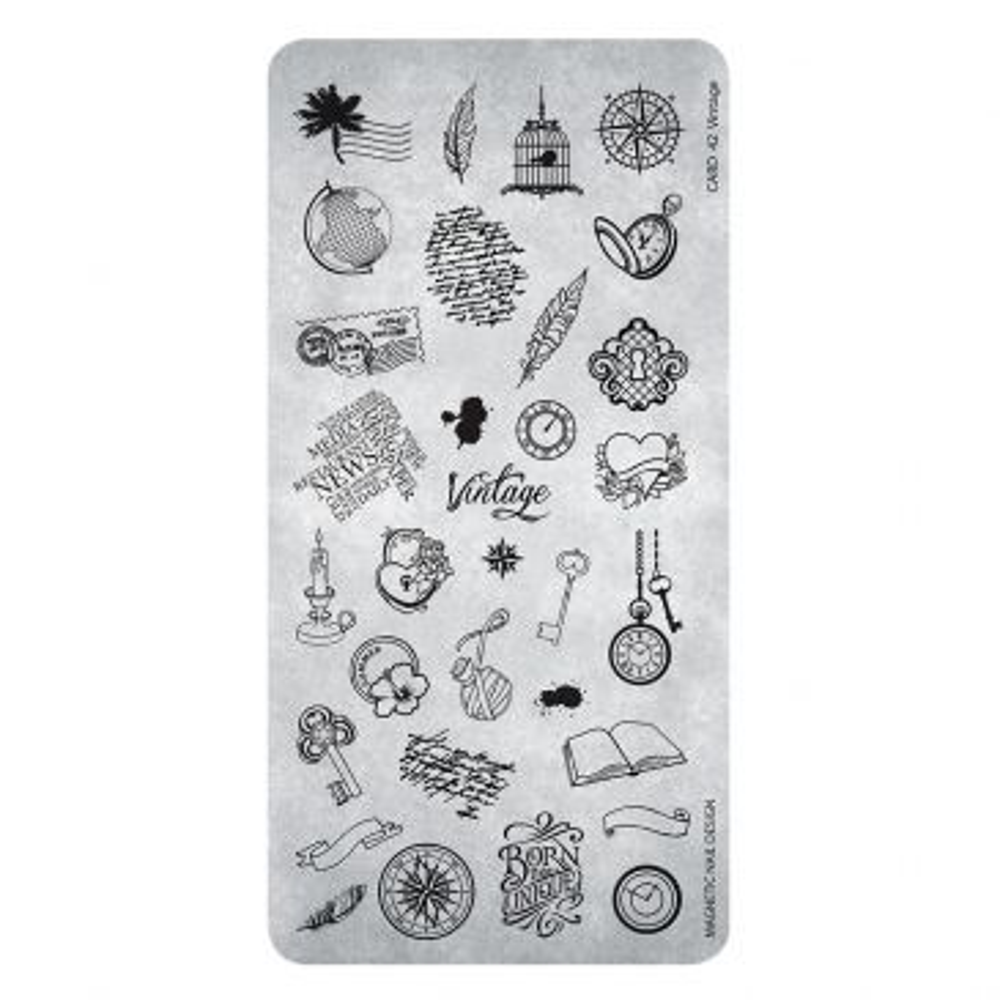 Magnetic Stamping Plate - Vintage 42