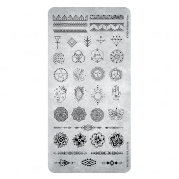 Magnetic Stamping Plate 48 - Boho Vipes