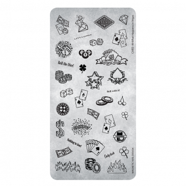 Magnetic Stamping Plate 49 - What Happens in Vegas