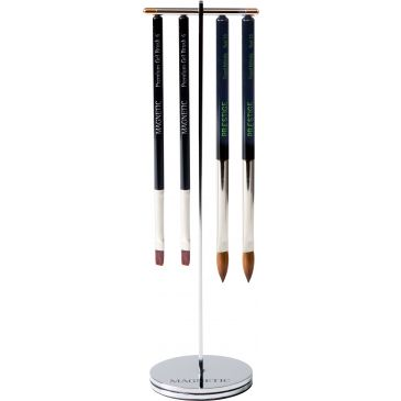 Click-On Brush stand Silver