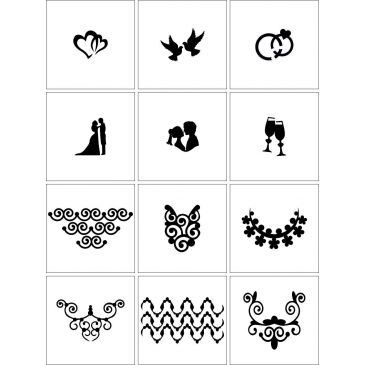 Airnails Stencil Wedding Collection