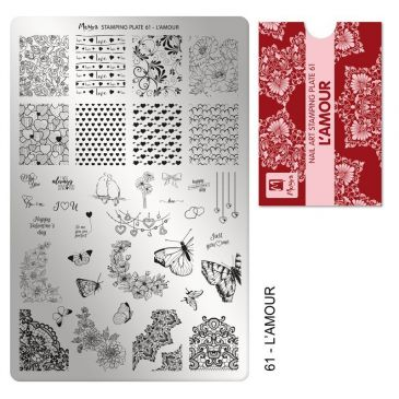 Moyra Stamping Plate 61 L'Amour
