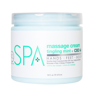 Massage Cream Tingling Mint+CBD 470 ml.