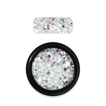 Moyra Rainbow Holo Glitter Mix White 05