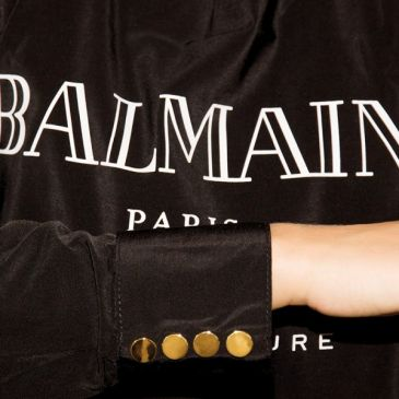 Luxury Balmain Cutting Cape Black