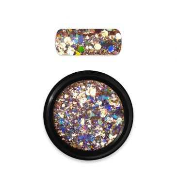 Moyra Rainbow Holo Glitter Mix Gold 02