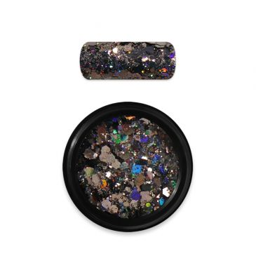 Moyra Rainbow Holo Glitter Mix Black 10