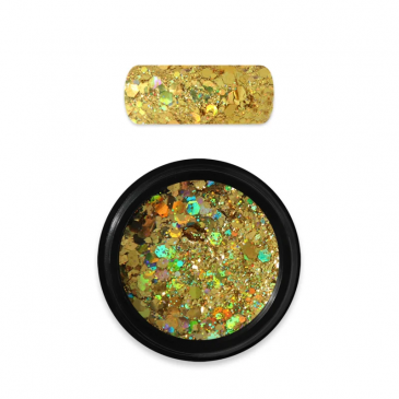 Moyra Rainbow Holo Glitter Mix Dark Gold 07