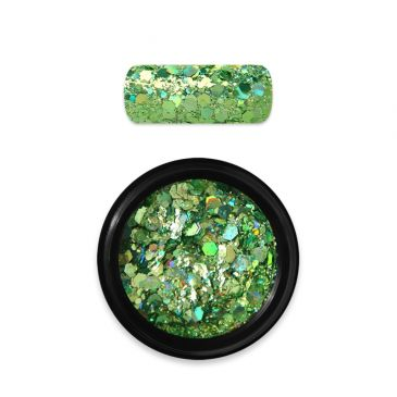 Moyra Rainbow Holo Glitter Mix Green 08