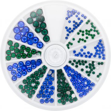 Strass Wheel Sapphire&Emerald 270 pcs