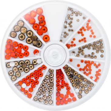 Strass Wheel Topaz&Hyacinth 270 pcs