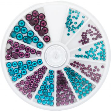 Strass Wheel Turquoise&Purple 270 pcs