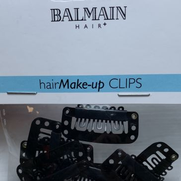 Balmain Big Clips Black 10pcs