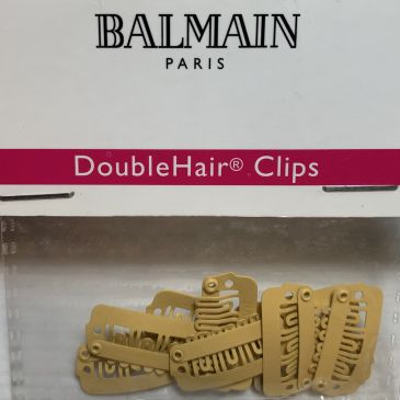 Balmain Double Hair Clips Blond 10pcs