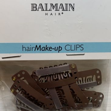 Balmain Big Clips Brown 10pcs
