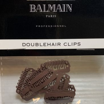 Balmain Double Hair Clips Brown 10pcs