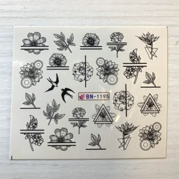 NIC Water Decal 'Flower Designs' 11