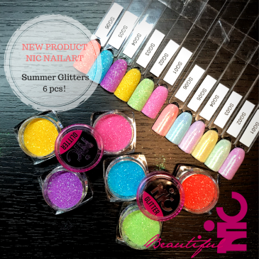 NIC Summer Glitter Collectie 6 pcs.