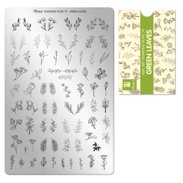Moyra Stamping Plate 79 Green Leaves