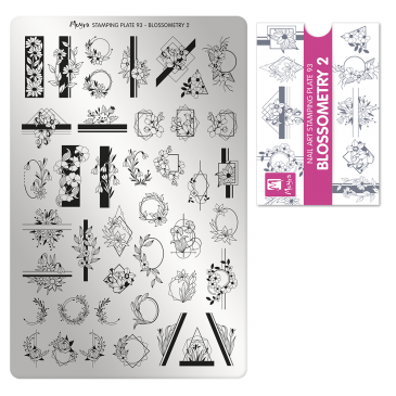 Moyra Stamping Plate 93 Blossometry 2