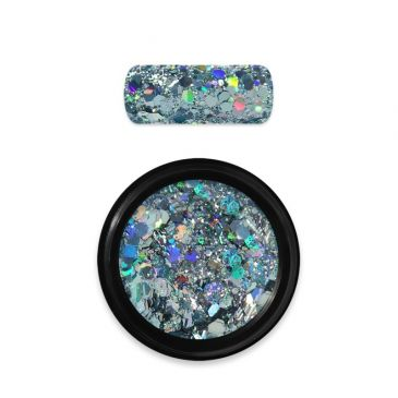 Moyra Rainbow Holo Glitter Mix Light Blue 09