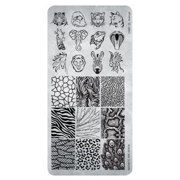 Magnetic Stamping Plate - 33 Animals