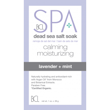 Dead Sea Salt Soak Lavender + Mint 28 gr.